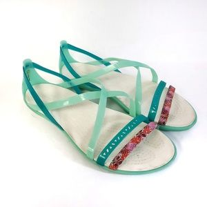 Crocs Jelly Sandals Aquamarine Sz 9